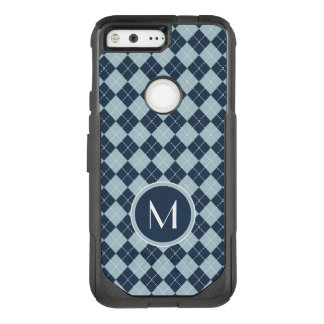 Monogram | Argyle In Blues OtterBox Commuter Google Pixel Case