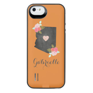 Monogram Arizona State Moveable Heart City iPhone SE/5/5s Battery Case