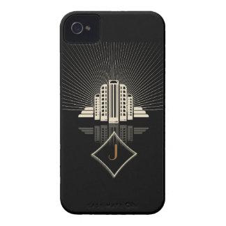 Monogram Art Deco Tower Spray iPhone 4 Case-Mate Cases
