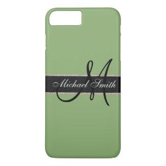 Monogram Asparagus Color Background iPhone 7 Plus Case
