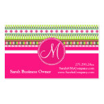Monogram Aztec Andes Trial Mountains Diamonds Pack Of Standard Business Cards