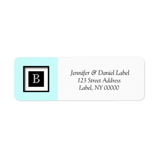 Monogram B Address Sticker Labels
