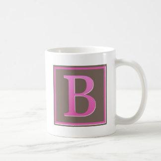 monogram b basic white mug