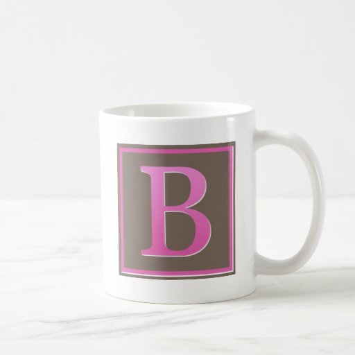 monogram b mug