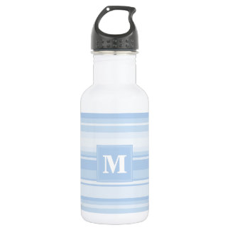 Monogram baby blue stripes 532 ml water bottle