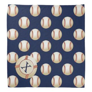 Monogram Baseball Balls Sports pattern Bandanna