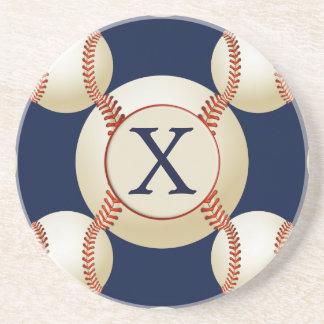 Monogram Baseball Balls Sports pattern Coaster