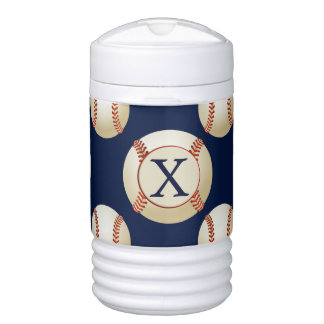 Monogram Baseball Balls Sports pattern Drinks Cooler