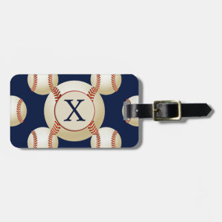 Monogram Baseball Balls Sports pattern Luggage Tag