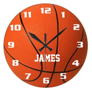 Monogram Basketball Wallclocks