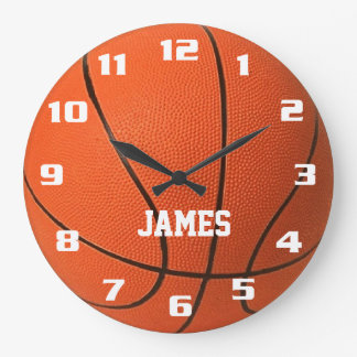 Monogram Basketball Clocks