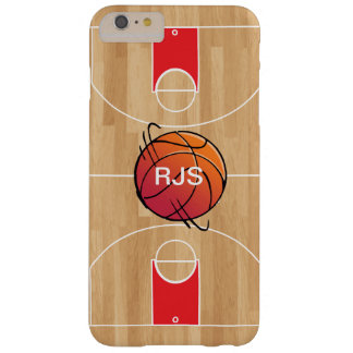 Monogram Basketball on Basketball Court Barely There iPhone 6 Plus Case