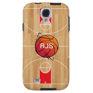 Monogram Basketball on basketball court Galaxy S4 Case