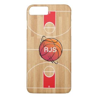 Monogram Basketball on Basketball Court iPhone 7 Plus Case