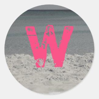 Monogram Beach Sticker