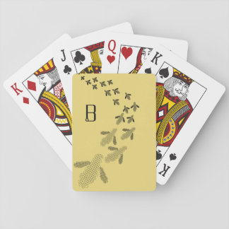 Monogram Bee Playing Cards