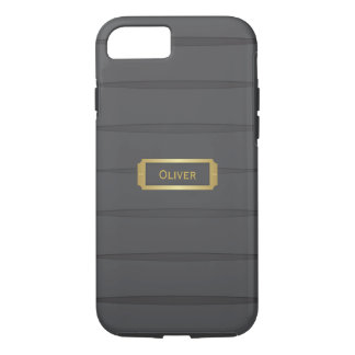 Monogram black and gold iPhone 8/7 case