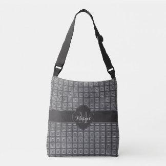 Monogram Black and silver pattern Crossbody Bag