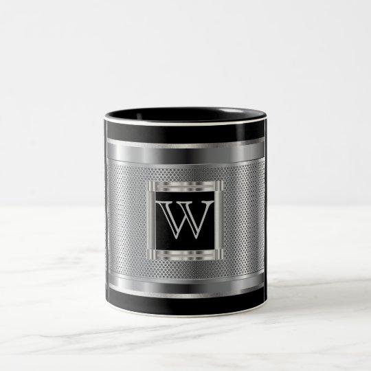 Monogram Black and Silver Steel Metal Mesh Two-Tone