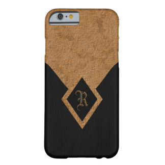 Monogram Black and Tan Elegant Slim iPhone 6 6S Barely There iPhone 6 Case