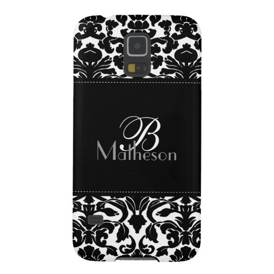 Monogram Black and White Damask Samsung Nexus Galaxy S5 Covers