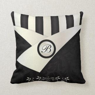 Monogram Black and White Eleganance Cushion