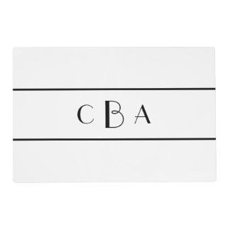 Personalised place mats from Zazzle