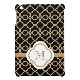 Monogram Black andl Gold Moroccan Case For The iPad Mini