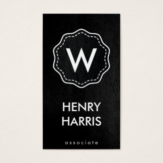 Monogram / Black Business Card