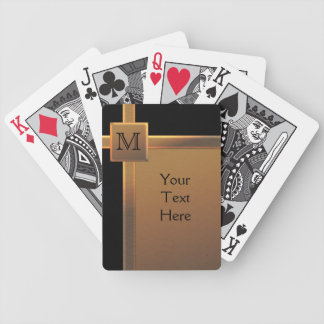 Monogram Black, Copper LOOK Playing Cards