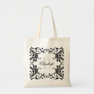 Monogram Black Damask