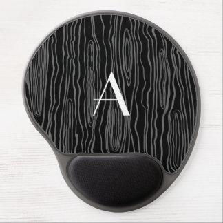 Monogram black faux bois gel mouse mat