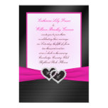 Monogram Black FAUX Satin Pleats with Pink Invite