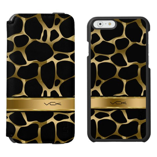 Monogram Black & Gold Leopard Print Incipio Watson™