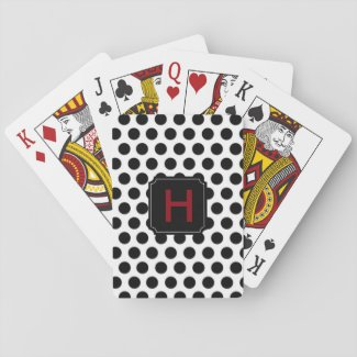 Monogram Polka Dot Playing Cards