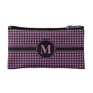 Monogram Black/Radiant Orchid Purple Houndstooth Makeup Bag