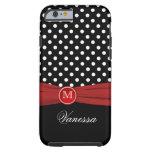 Monogram Black Red White Polka Dot iPhone 6 case Tough iPhone 6 Case