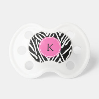 Monogram Black, White and Hot Pink Zebra Print Dummy