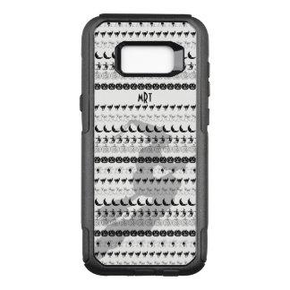 Monogram: Black/White Halloween Fun Font Art OtterBox Commuter Samsung Galaxy S8+ Case