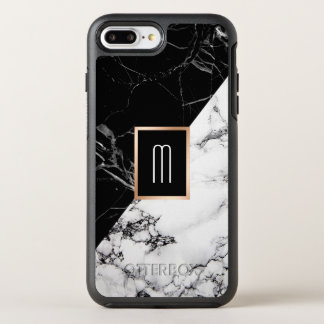 Monogram Black White Marble Texture Fashion Look OtterBox Symmetry iPhone 8 Plus/7 Plus Case
