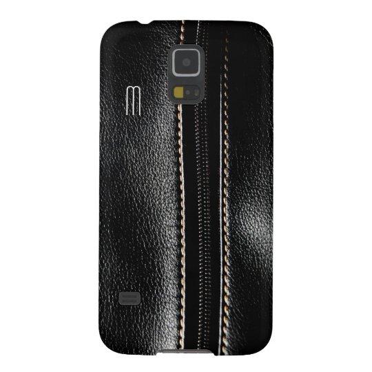 Monogram Black Zip Faux Leather Galaxy S5 Case