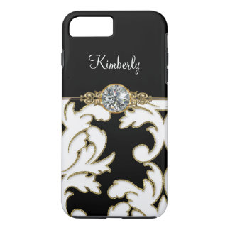 Monogram Bling Damask iPhone 7 Plus Case