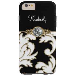 Monogram Bling Damask Tough iPhone 6 Plus Case
