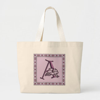 Monogram : Blossom : A Large Tote Bag