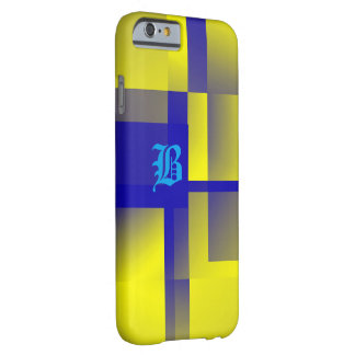 Monogram Blue and Yellow Style iPhone cover