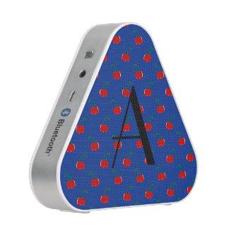 Monogram blue cherry pattern