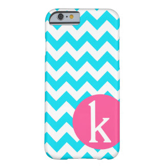 Monogram blue chevron iPhone 6 case Barely There iPhone 6 Case