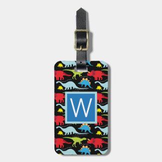 Monogram | Blue  Dinosaurs Luggage Tag