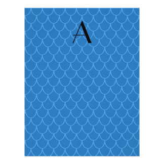 Monogram blue dragon scales full color flyer