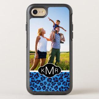 Monogram | Blue Leopard Texture OtterBox Symmetry iPhone 8/7 Case